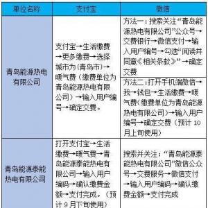 青岛供暖新增多种支付方式