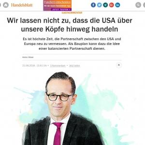 德国外交部长:欲建立独立于美国的支付体系