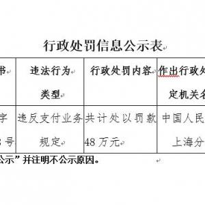 四年被罚九次!上海即富旗下开店宝违规又遭央行处罚