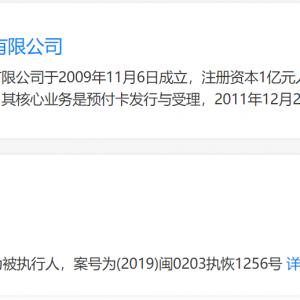 中联信支付被列入被执行人名单