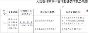 富民村镇银行反洗钱等违规遭央行罚款40万元